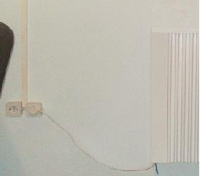 Підключення теплоакумуляційного обігрівача через вилку і розетку